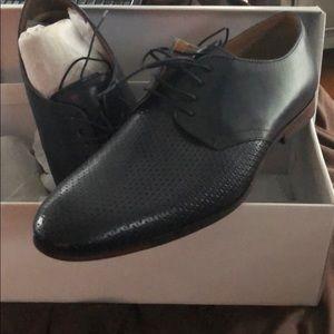 NIB Steve Madden Navy Dress Shoe Men's 10.5